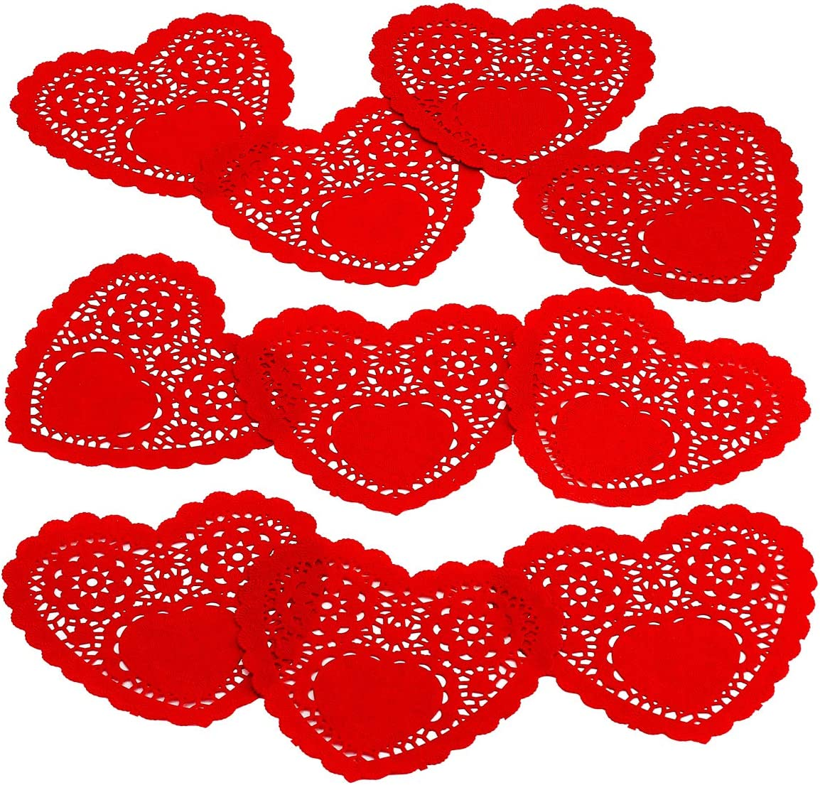 Kicko Red Heart Doilies - 30 Department store Disposable Inches Pack Dinner 6 National uniform free shipping