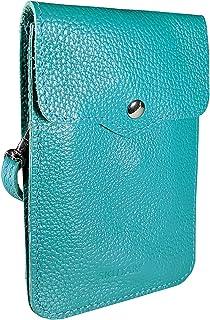 SKUTARI® Leder MAIDA Damen Handytasche aus hochwertigem Echt-Leder,Umhängetasche,Geldbörse, Lederhandytasche mit extra lan...
