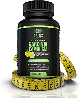 Garcinia Cambogia Extract Supplement 2100MG - 95% HCA Fat Burners for Men and Women - All-Natural Appetite Suppressant & C...