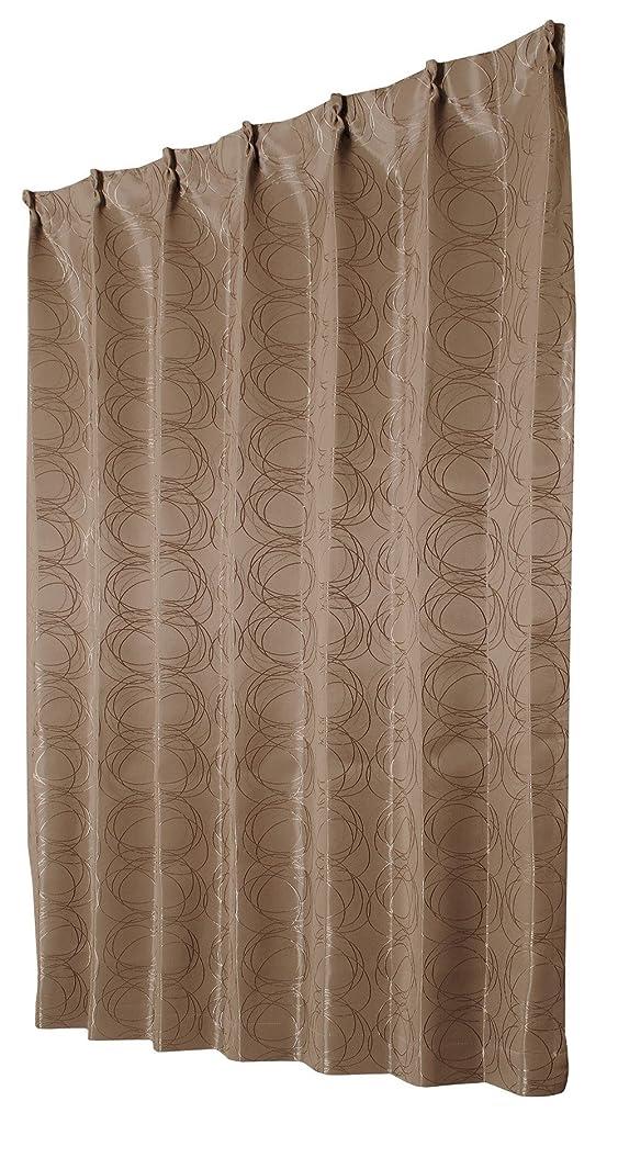 繁栄するレッスンひらめきユニベール 遮光ドレープカーテン フロスト ブラウン 幅100×丈178cm 2枚組