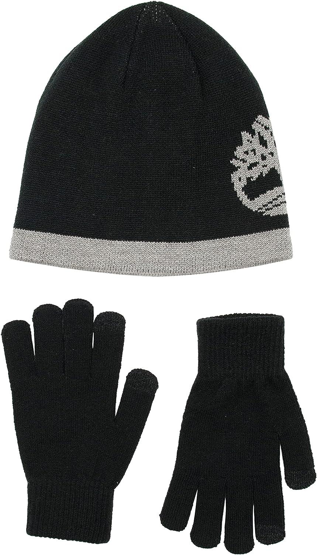 Timberland Boys' Cuffed Hat & Magic Glove Gift Set