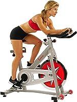 دراجة تمارين منزلية من ساني هيلث اند فيتنس مع عجلة دفع 18.1 كجم ومقاومة لباد مزدوجة - برو II