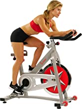 Sunny Health & Fitness Pro Indoor Cycling Bike with 40 LB Chromed Flywheel, Dual Felt..