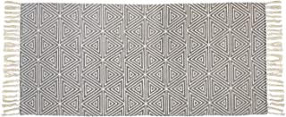 USTIDE Handmade Cotton Rug Geometric Rhombus Runner Rugs for Sale for Laundry/Kitchen/Bedroom/Entry Way, 2ftx4.3ft, Light Triangle
