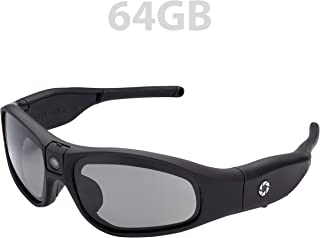 iVUE Rincon 1080P HD Camera Glasses Video Recording Sport Sunglasses DVR Eyewear (Tilt Lens, Polarized/Impact Resistant, WiFi/App), 64GB