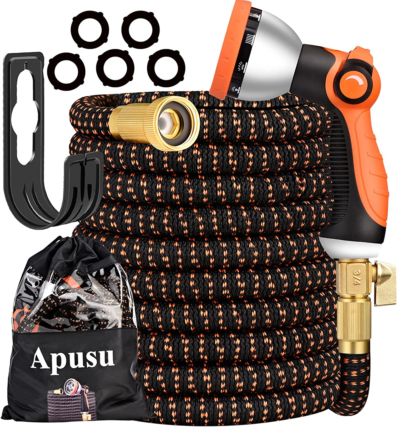 Apusu Expandable Hose 50ft- Max 70% OFF Water Durable- Ranking TOP1 Lightweight Flex