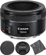 Canon EF 50mm f1.8 STM: Lens (0570C002) + AOM Microfiber Cleaning Cloth - International Version (1 Year AOM Warranty)