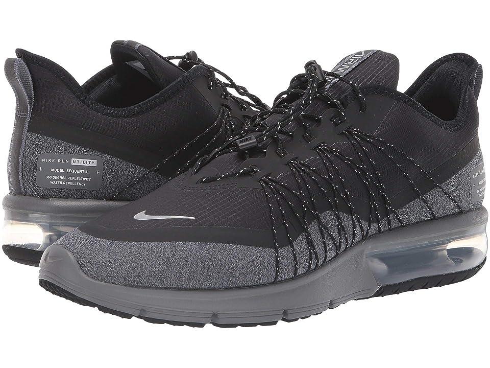 Nike Air Max Sequent 4 Shield (Black/Metallic Silver/Dark Grey) Men