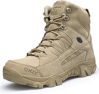 b092e8bcbda82 LILY999 Hommes Bottes de Randonnée Tactiques Militaires de Combat Bottes Chaussures  de Trekking extérieures Respirantes Antidérapant