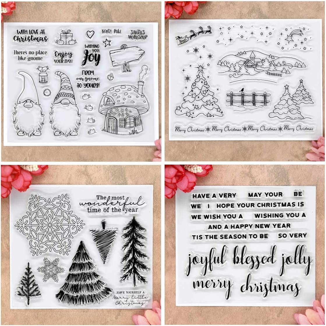 christmas hand carved stamps for diy card making clay stamping art journal ho ho ho stamps gift wrapping santa rubber stamps