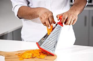 Delcasa 4-Sided Box Cheese Grater – Stainless Steel Hand held Grater/Slicer/Chopper/Zester for Vegetables Cheese Chocolate...