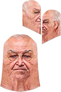 Faux Real Unisex-Adult's Old Man Mask, White, One Size