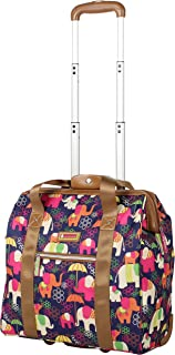 Design Pattern Carry on Bag Wheeled Cabin Tote (Elephant Rain)