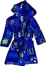Komar Kids Big Boy's Sports Theme Plush Bathrobe Small Royal Blue/Green