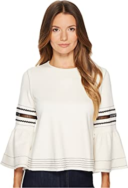 See by Chloe - Bell Sleeve Tee with Embroidery