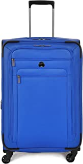 """Delsey Luggage Helium Sky 2.0 25"""" Expandable Spinner Trolley (Blue)"""