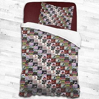 DerekAKnight Pierce The Veil 2 Piece Bedding Set (1 Duvet Cover + 1 Pillowcases) with Zipper Closure,55x83/53x79 Inches