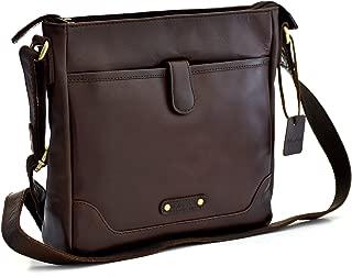 Style n Craft 392001 Cross Body Messenger Bag in Full Grain Leather, Dark Brown