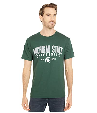 Champion College Michigan State Spartans Jersey Tee (Dark Green 4) Men