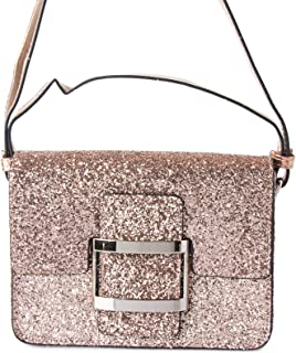 Lenz Flap Bag For Women, Leather, Rose Gold - S18-B014