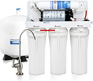 APEC Water Systems RO-PUMP-120V Top Tier Ultra Safe Reverse Osmosis Drinking Water Filtration System with US Made Booster Pump