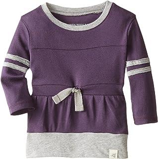 0a199a91e Burt's Bees Baby Baby-Girls Newborn Organic Varsity Tee Dress, Blackberry,  9 Months