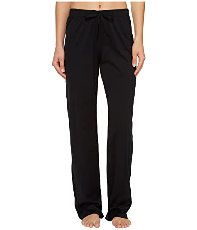 Hanro Cotton Deluxe Drawstring Long Pants (Black) Women