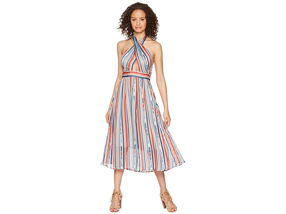 ASTR the Label Gemma Dress (Geo Multi Stripe) Women