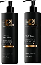 H2L Premium Natural Hydrating Body Lotion - With Shea Butter & Baobab, Jojoba, Argan Oil. Formulated to Nourish & Hydrate Skin. For Men By Hill Harper (2 Bottles)