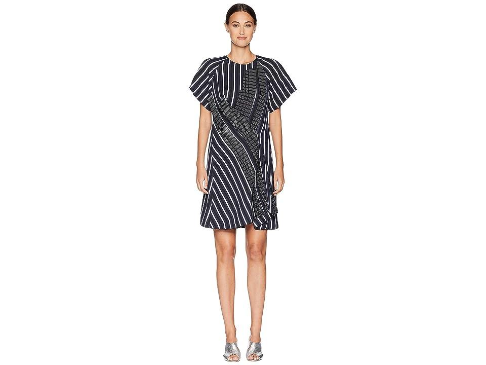 Sportmax Tallero Short Sleeve Dress (Midnight Blue) Women