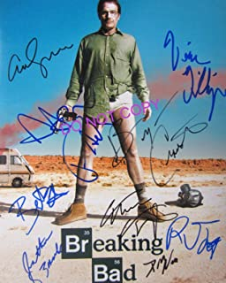 Breaking Bad cast 8x10 reprint signed cast photo RP Cranston Paul +9