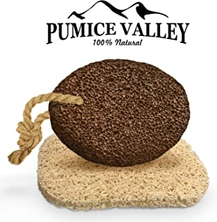Pumice Stone for Feet - Natural Lava Foot Stone with New Eco-Friendly Holder - Callus Warts Corn Removal - Pedicure Exfoliator for Dry Dead Skin, Heels, Elbows, Hands - Healthy Foot Care Scrubber