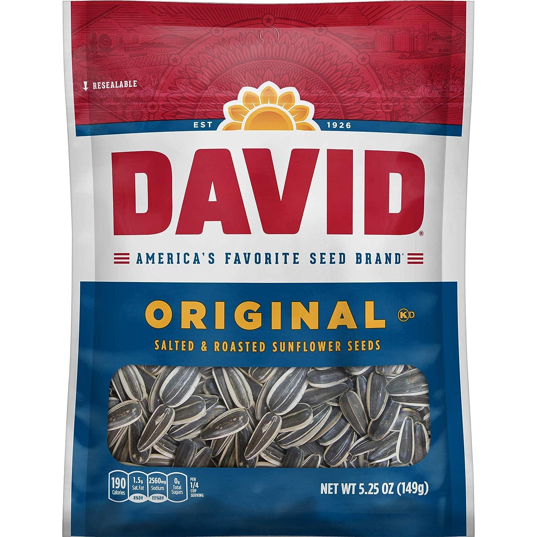 DAVID SEEDS Roasted and Salted Fr Popular popular low-pricing Sunflower Seeds Keto Original