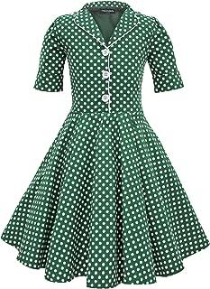 Kids 'Sabrina' Vintage Polka Dot 50's Girls Dress