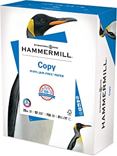 Hammermill Printer Paper, 20 lb Copy Paper, 8.5 x 11 - 1 Bulk Pack (750 Sheets) - 92 Bright, Made in the USA