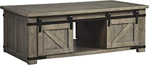 Signature Design by Ashley Aldwin Rect Storage Cocktail Table Gray