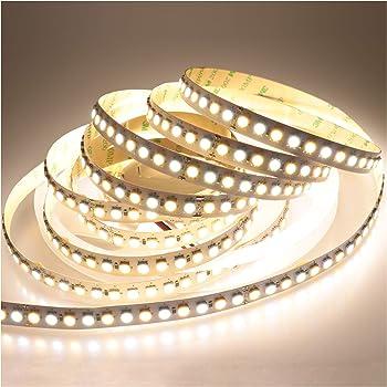 LTRGBW 5050 SMD Super Bright 2800K-7000K 24V 600LEDs Dual-White Bicolor-LED-Stripe CW + WW Farbtemperatur Einstellbare Flexible Nicht-wasserdichte 5M für Küche Badezimmer Innenbeleuchtung
