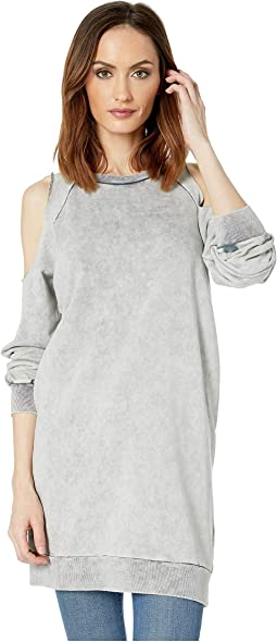 Brit Cold Shoulder Sweatshirt Dress