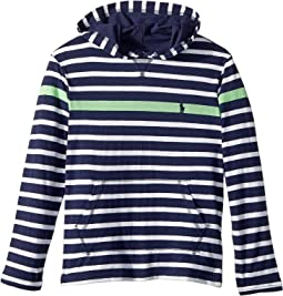 Polo Ralph Lauren Kids - Striped Cotton Hooded T-Shirt (Big Kids)