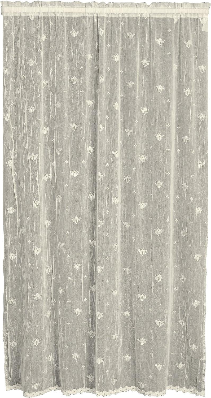 Heritage Lace Bee Door Panel, 45 by 63-Inch, Ecru