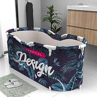aniceday Bañera De Inmersión Portátil Plegable Bañera Barril Lavabo De Ducha Independiente para Adultos Niños Baño Viajes Ahorrar Espacio