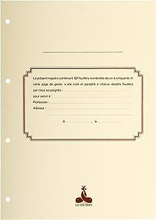 Le Dauphin - Réf. 2734D - Recharge numérotée/perforée 50 feuillets unis blanc épaisseur du papier 90 g pour classeurs juri...