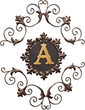 The Lakeside Collection Ornate Metal Monogram Wall Hanging Decoration for Home – 3..