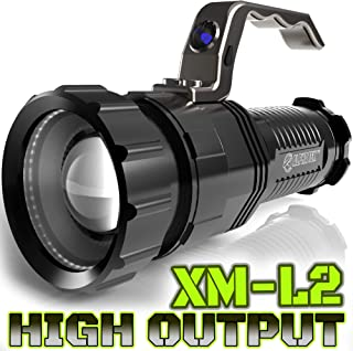 1500 LUMEN   HIGH OUTPUT   RECHARGEABLE   ZOOMABLE Floodlight to Spotlight   X-Lamp XM-L2 CREE LED (20% Brighter Than T6 LED) TACTICAL FLASHLIGHT   (NO Battery Included)