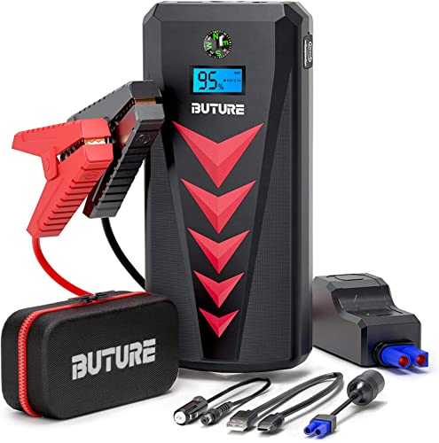 2000A Battery Jump Starter Portable Car Battery Charger Jump Starter Dual Start Inside & Outside Car 22000mAh Car Starter Jump Box for up to 8.0L Gas/Diesel Engine with -4°F Resistance DC Out