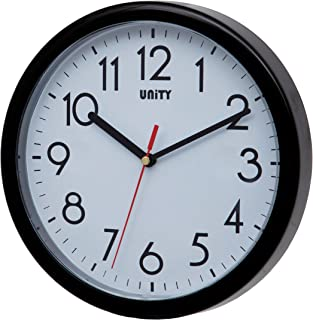 Unity Hastings Horloge Murale Moderne silencieuse Noir 22 x 22 x 5 cm