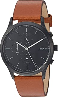 Skagen Men's Jorn Stainless Steel Analog-Quartz Leather...