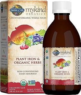 Garden Of Life Mykind Organics Plant Sourced Iron + Herbs 8Oz