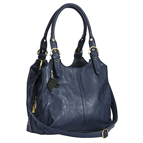 d31858ed325f BHSL Womens Multiple Pockets Medium Size Long Strap Shoulder Bag - with a  Branded Protective Storage