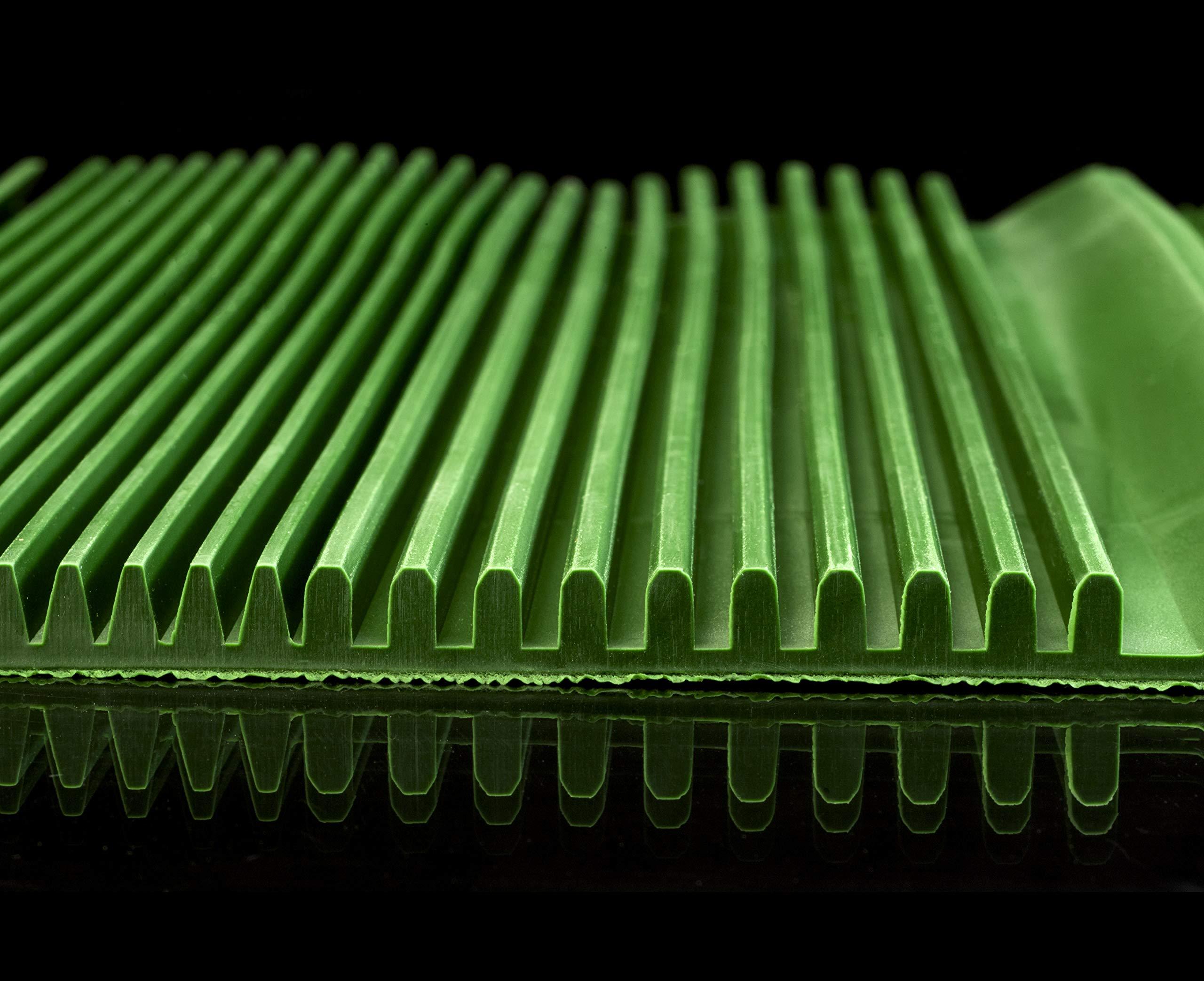 "SE GP-SB35-MAT 10/"" x 27/"" Green Sluice Box Matting"